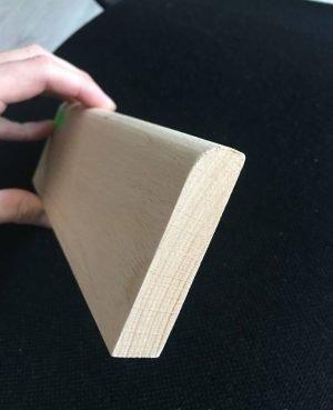 Plinta inalta din lemn de fag