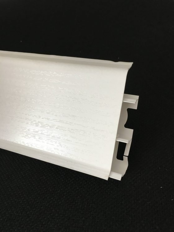 Plinta Systema pvc 80mm, alb mat
