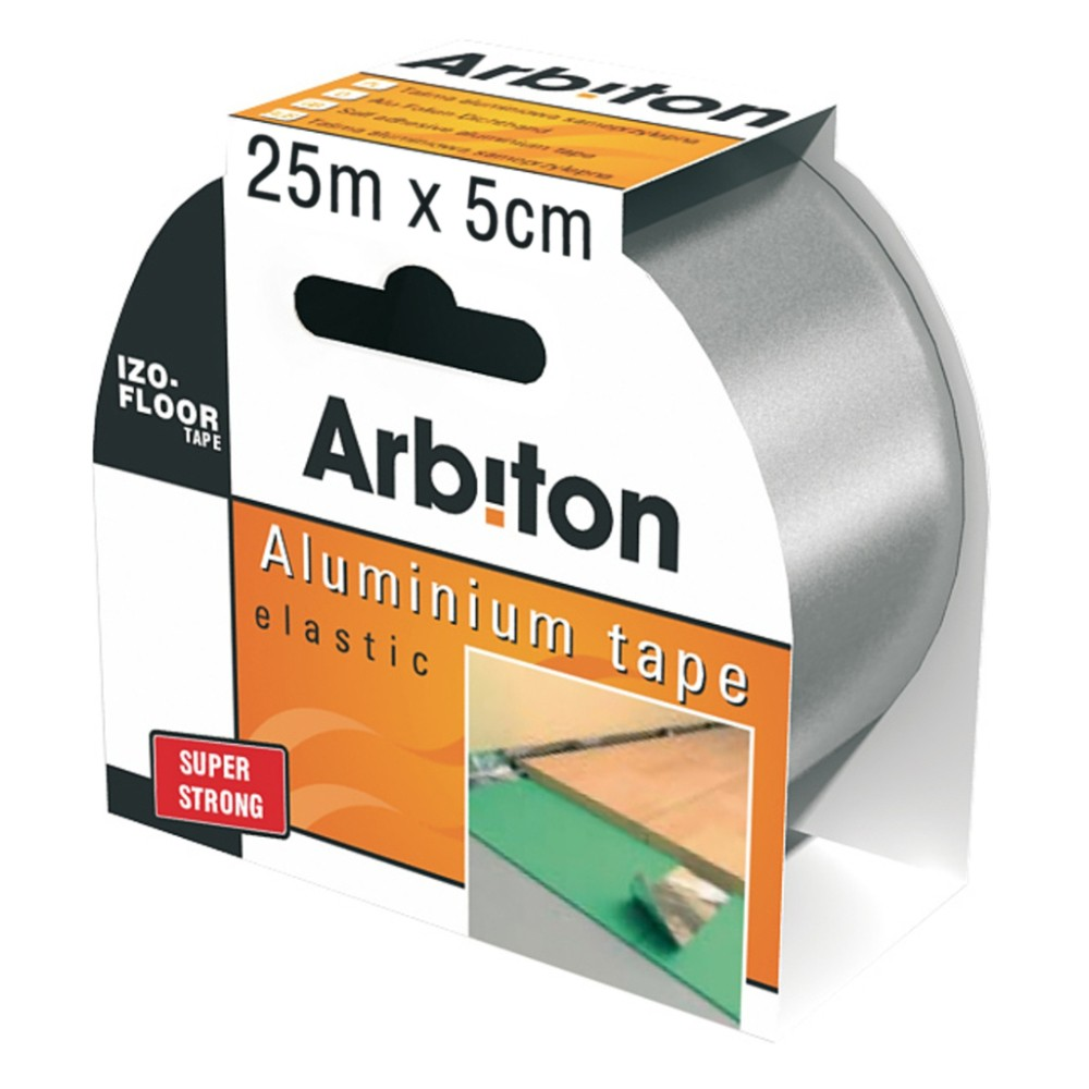 Banda adeziva Arbiton Izo-Tape aluminiu 25 m x 50 mm imagine