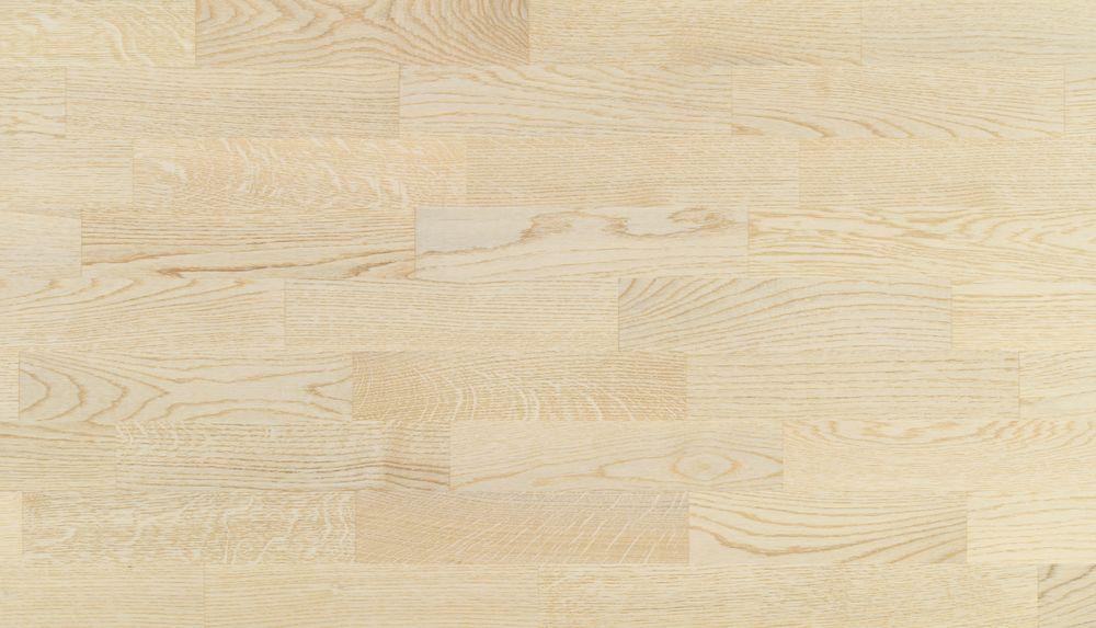 Parchet triplustratificat Eurowood 3 lamele Stejar Natural, lăcuit alb