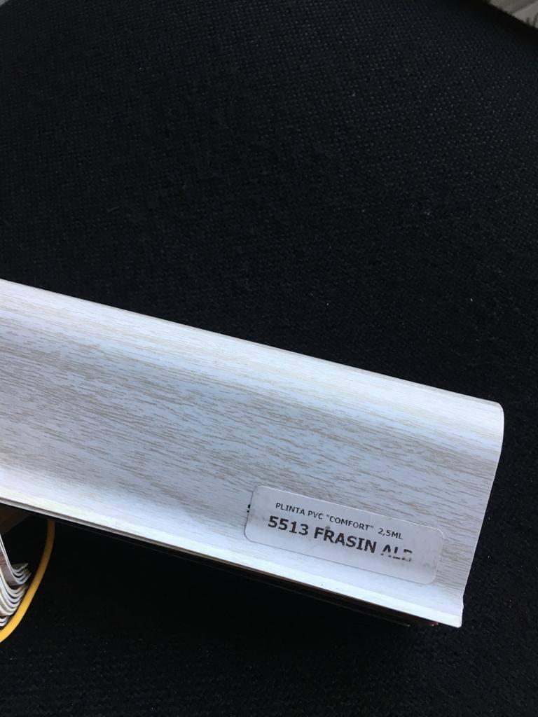 Plinta flexibila pvc BEST 5513 Frasin Alb poza noua