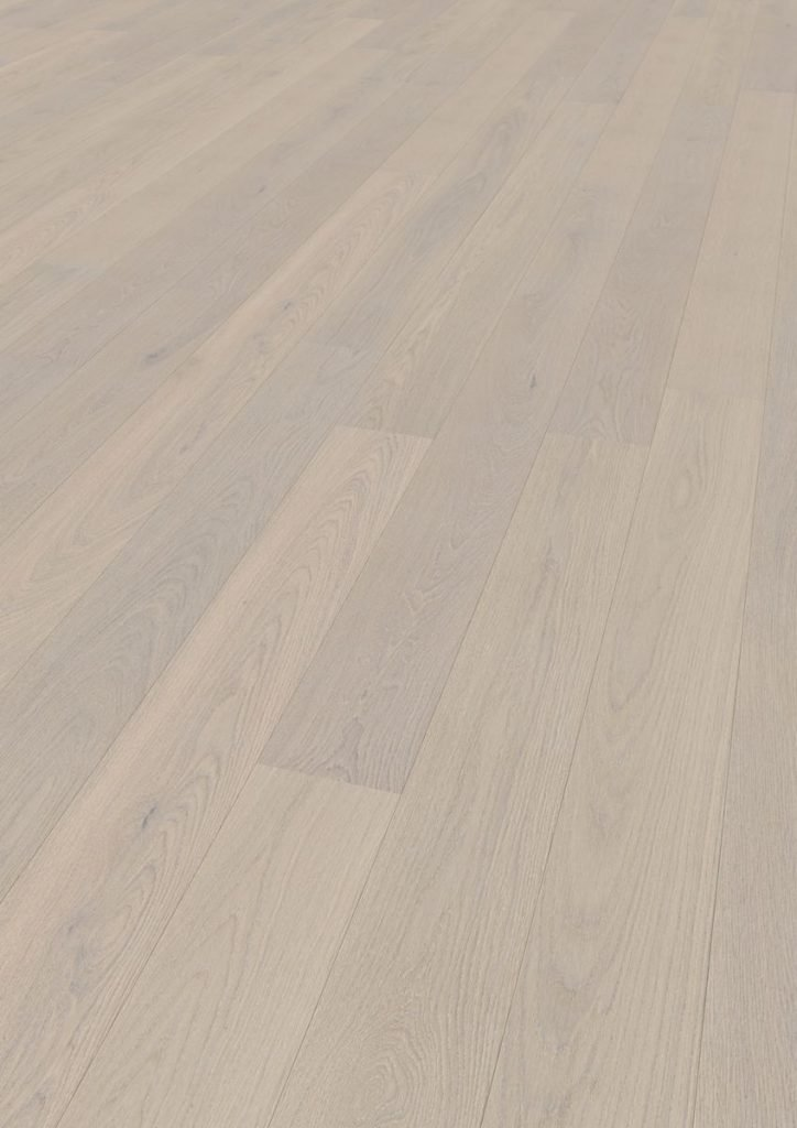 Podea triplustratificată Eurowood 1 lamelă Stejar Alb Natur uleiat, periat, frezaj 4V
