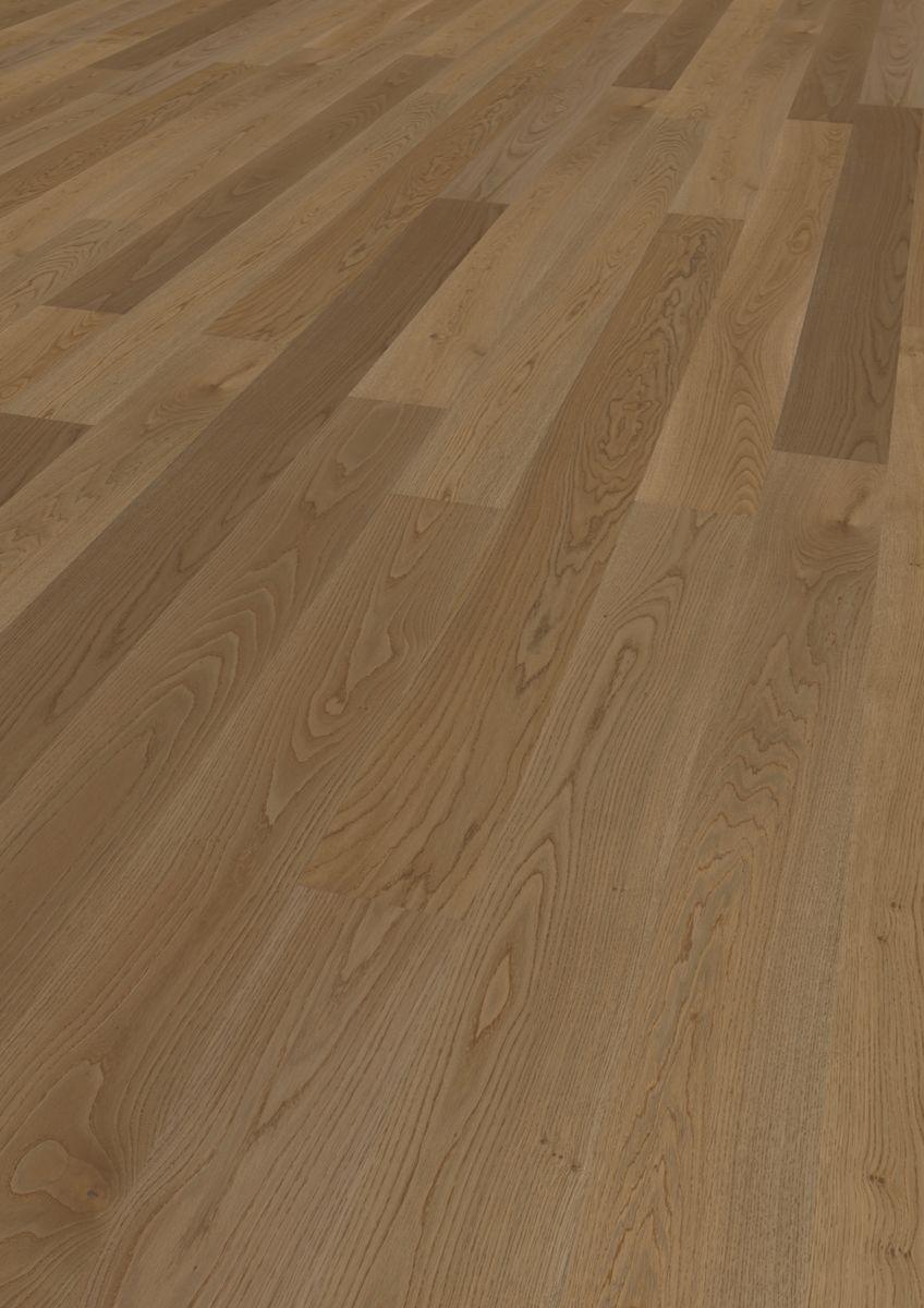 Podea triplustratificată Eurowood 1 lamelă Stejar Brown Natur uleiat, periat, frezaj 4V