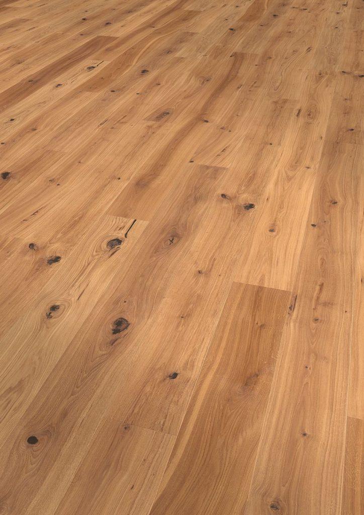 Podea triplustratificată Eurowood 1 lamelă Stejar Rustic uleiat, periat, frezaj 4V
