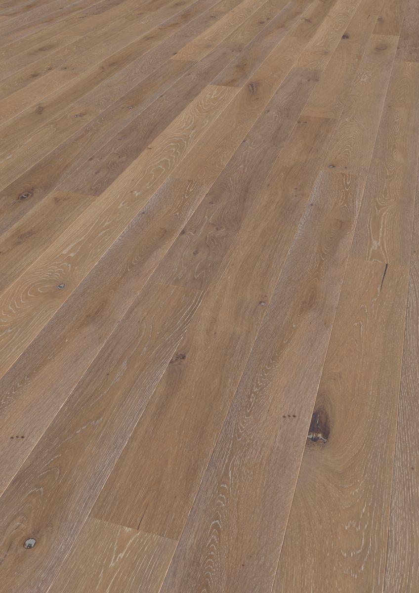 Podea triplustratificata Eurowood 1 lamelă Stejar rustic silk gray periat, frezaj 4V