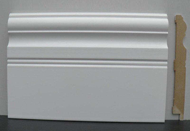 Plinta mdf alba inalta SP145, 14.5cm poza noua