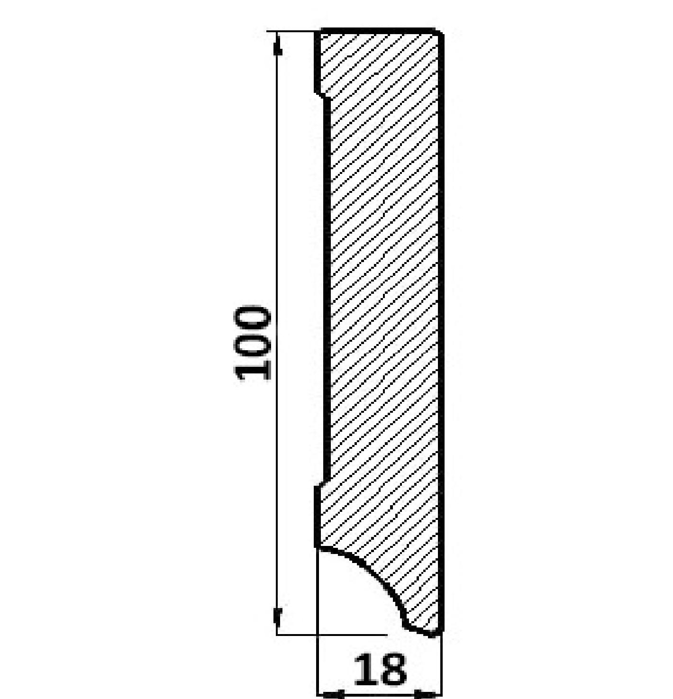 Plinta Egger mdf alb profil cubic P100C.01