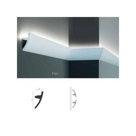 Profil pentru banda LED din poliuretan flexibil KF502F 2