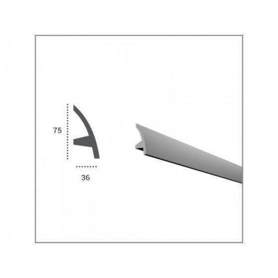 Profil pentru banda LED din poliuretan flexibil KF502F poza noua