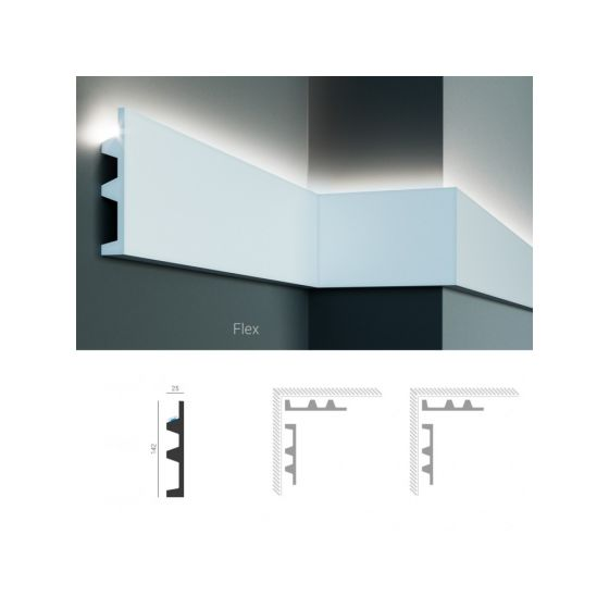Profil pentru banda LED din poliuretan flexibil KF505F poza noua