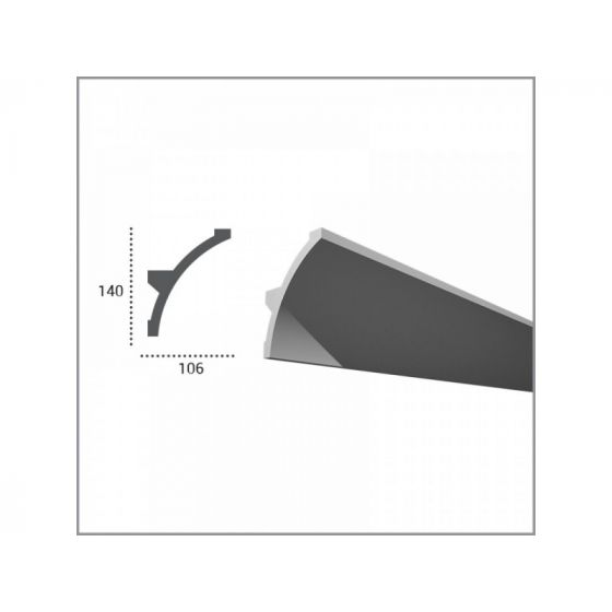 Profil pentru banda LED din poliuretan flexibil KF708F 2