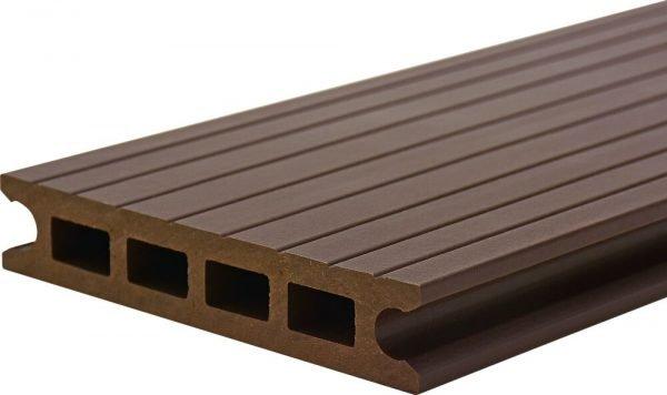 Deck din TWPC Lunacomp, mocca brown, periat-riflat fin