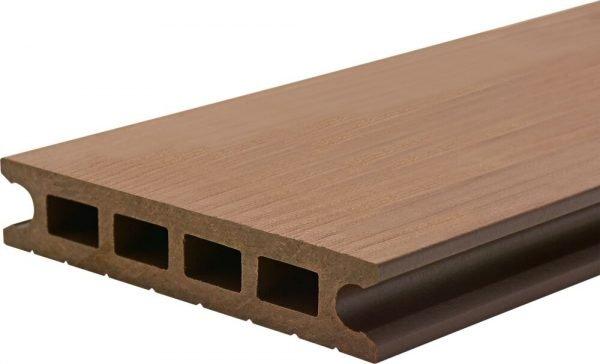 Deck din TWPC Lunacomp, mocca brown, periat sau riflat fin