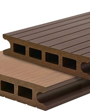 Deck din TWPC Lunacomp, mocca brown, periat si riflat fin