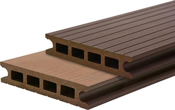 Deck din TWPC Lunacomp, mocca brown, periat si riflat fin