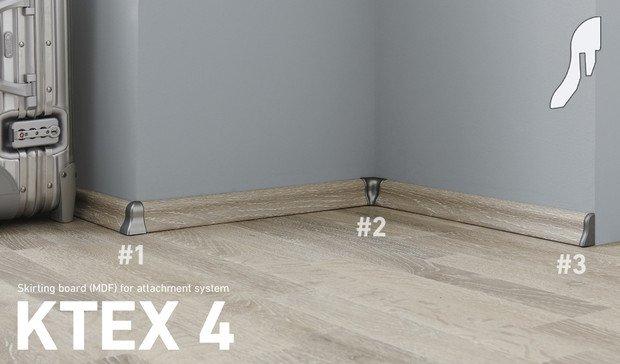 Plinta MDF Kronotex profil ktex4 asortata cu parchetul