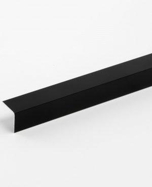 Cornier aluminiu 20x20x1,2 mm, Negru 9005